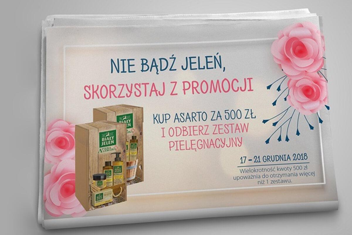 Newspaper advert in Marcin Dziubak Portfolio